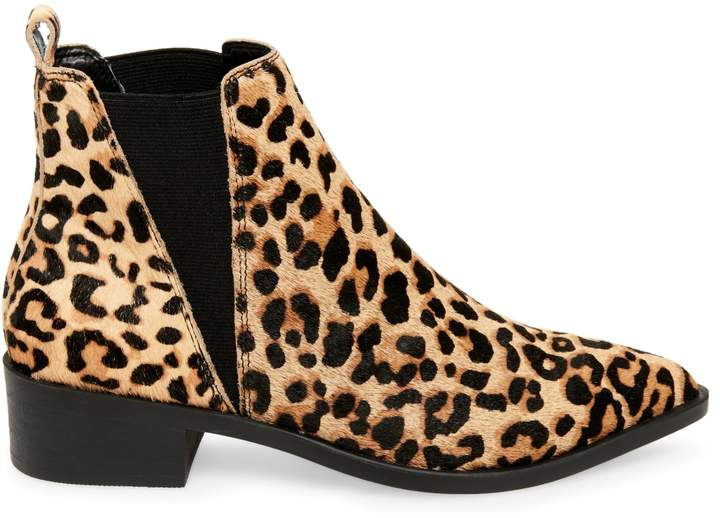 e1ca62cd572 Jerry Leopard-Print Cow Hair Chelsea Bootie