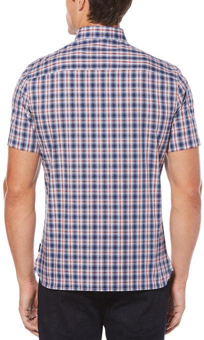 Perry Ellis Short Sleeve Slim Ombre Shirt
