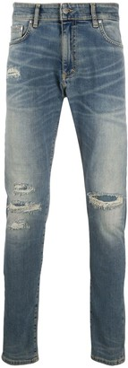 Represent Ripped Slim-Fit Jeans