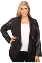 Calvin Klein Plus Plus Size Distressed Flyaway Jacket