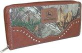 John Deere Women's Camouflage Zip-Around Wallet