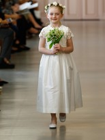 Oscar de la Renta Snowflake Flower Girl Dress