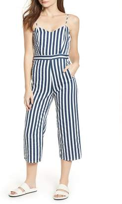 Mother The Cut It Out Stripe Jumpsuit