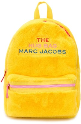 Little Marc Jacobs Faux Fur Logo Patch Backpack