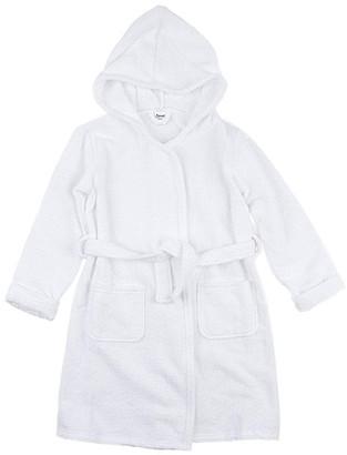 Leveret Bath Robes White - White Front-Pocket Tie-Waist Hooded Bathrobe - Infant, Toddler & Kids