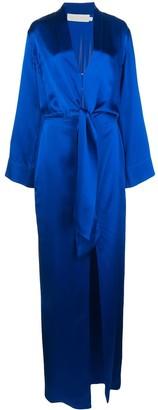 Mason by Michelle Mason Kimono Tie Gown