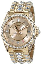 Juicy Couture Stella Women's Quartz Watch with Gold Dial Analogue Display and Gold Rose Gold Bracelet 1901103