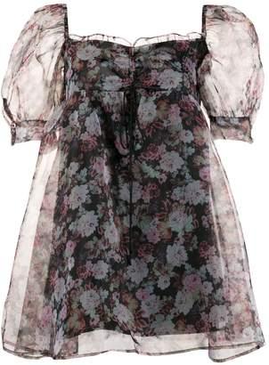 For Love & Lemons Faye floral-print mini dress