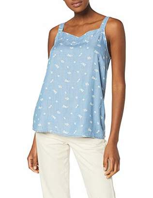 Esprit edc by Women's 059cc1f001 Blouse, Blue Light Wash 903, Large