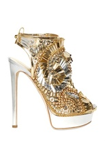 DSquared 150mm Laminated Leather Beaded Sandals