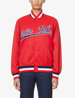 Polo Ralph Lauren Logo-embroidered cotton-blend varsity jacket