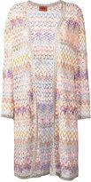 Missoni zigzag cardi-coat - women - Polyester/Cupro/Viscose - 44
