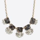 J.Crew Factory Crystal tortoise fan necklace