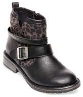 Stevies Girls' #LILROCKER Leopard Fashion Boots - Black