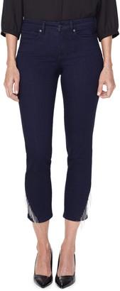 NYDJ Sheri Diagonal Chain Hem Ankle Jeans