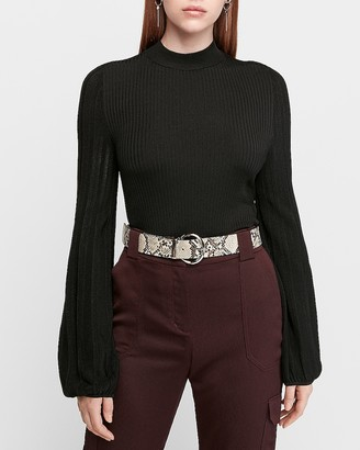 Express Fitted Volume Sleeve Sweater