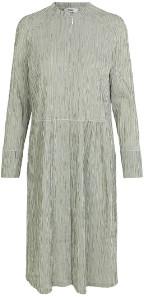 Mads Norgaard Crinckle Pop Dupina Dress - Army/White - Size 34 (UK 8)