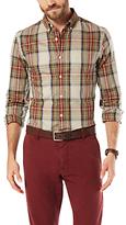 Dockers Oxford Shirt, Safari Beige Plaid