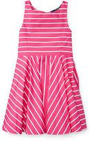 Ralph Lauren 2-6X Striped Cotton Sateen Dress