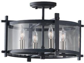 Feiss Ethan 4-Light Semi Flush Mount - Iron