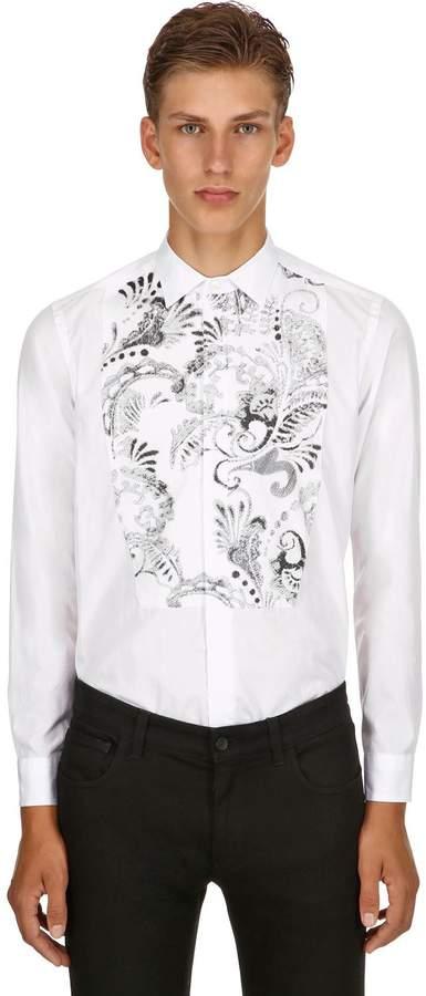 Etro Embroidered Cotton Poplin Shirt
