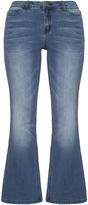 Junarose Plus Size Flared light wash jeans