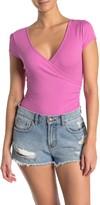 Lush Rib Knit Ruche Bodysuit