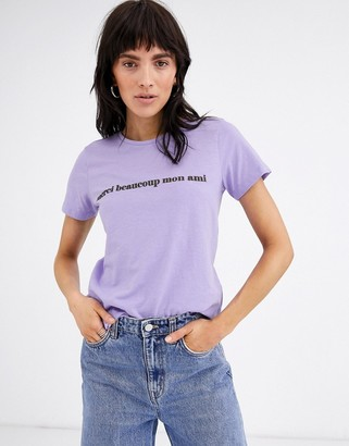 Ichi slogan t-shirt-Purple