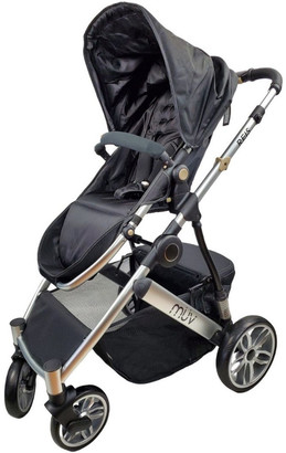 Aussie Baby REIS 4 Wheel Pram - Black
