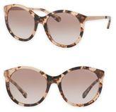 Michael Kors Island Tropics 55MM Rounded Cat Eye Sunglasses