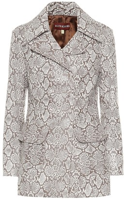 ALEXACHUNG Snake-effect faux leather jacket