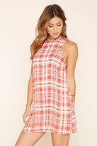 Forever 21 FOREVER 21+ Plaid Sleeveless Mini Dress