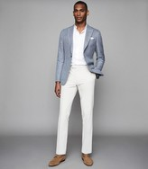 Reiss Archie - Wool Blend Single Breasted Blazer in Light Blue