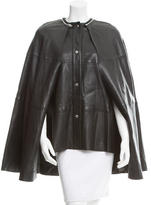 McQ by Alexander McQueen Leather Cape Vest
