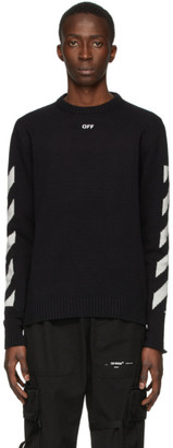 Off-White Black Diag Sweater