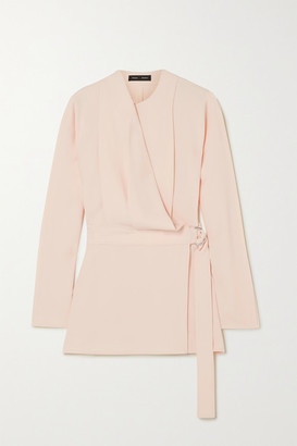 Proenza Schouler Draped Crepe Wrap Top - Peach