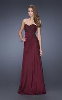 La Femme 19393 Bejeweled Sweetheart A-line Dress