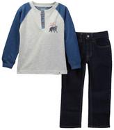 Lucky Brand Long Sleeve Henley Jean Set (Toddler Boys)