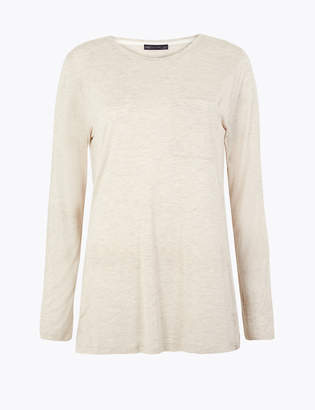 Marks and Spencer Relaxed Fit Longline Long Sleeve Top