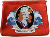 Charlotte Olympia Red Suede Clutch bags
