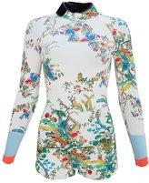 Cynthia Rowley Rainbow Vines Print Wetsuit