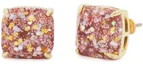 Kate Spade Glitter Crystal Mini Square Stud Earrings