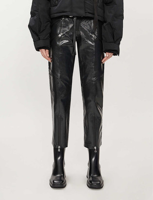 SHOREDITCH SKI CLUB Hanbury straight leather trousers