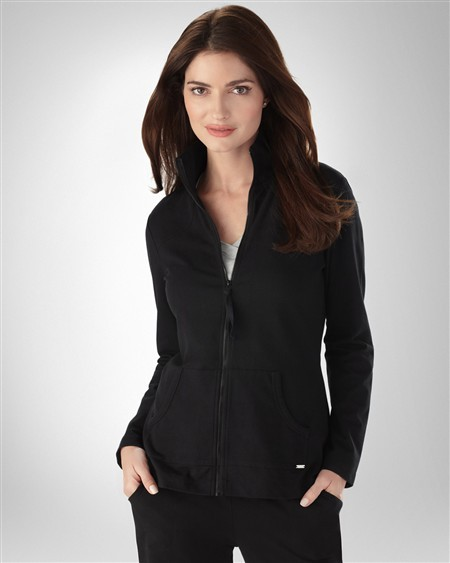 Soma Intimates Soft Cotton Zip Front Jacket