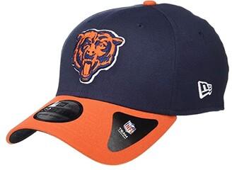 New Era NFL Team Classic 39THIRTY Flex Fit Cap - Chicago Bears (Navy/Orange) Baseball Caps