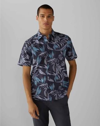 Club Monaco Short Sleeve Bird of Paradise Shirt