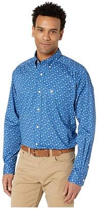 Ariat Gates Stretch Print Shirt (Blue Planet) Men's Clothing