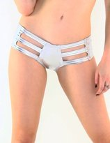 iHeartRaves Micro Cut-Out Rave Booty Shorts (Medium/Large, )