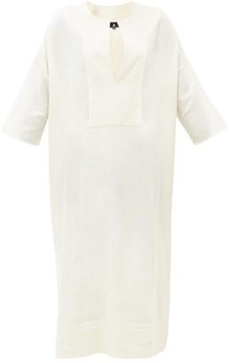 Su Paris - Pia Slit-front Cotton-blend Tunic Dress - Womens - Cream