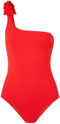 Zimmermann One-shoulder Bow-detailed Swimsuit